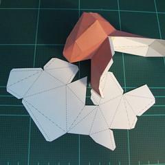 วิธีทำโมเดลกระดาษเรขาคณิตรูปกระต่าย (Rabbit Geometric Papercraft Model) 019