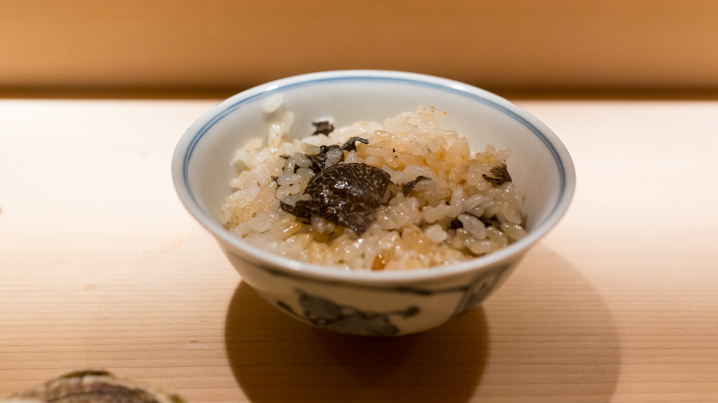rice with black truffles
