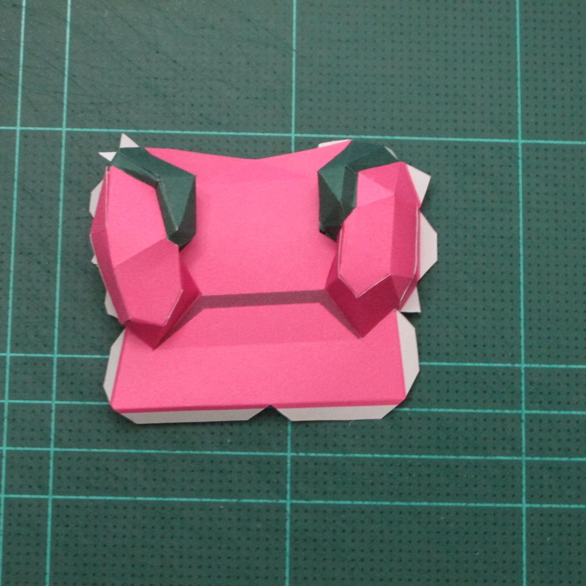 วิธีทำโมเดลกระดาษตุ้กตาคุกกี้รัน คุกกี้รสสตอเบอรี่ (LINE Cookie Run Strawberry Cookie Papercraft Model) 013
