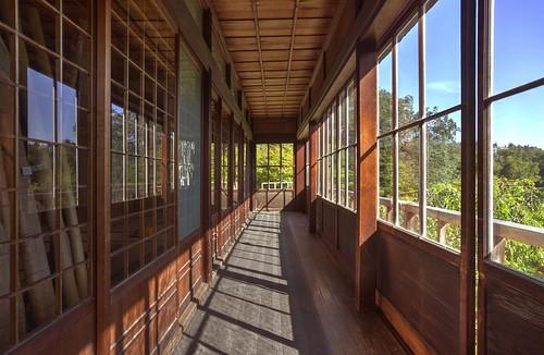 hakonegardens saratoga hallway japanesehouse architecture wood shadow hdr 3xp raw nex6 selp1650 photomatix fav200 siliconvalley sanfranciscobay