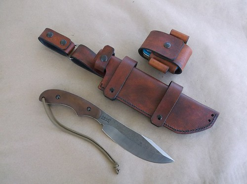 Ka Bar Potbelly custom leather sheath