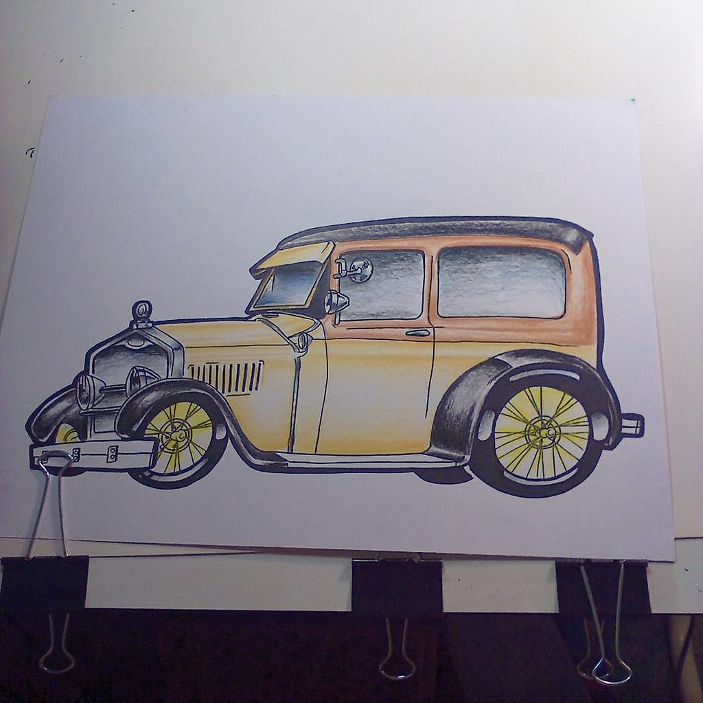 Need to work on the background #caricatura #car #cars #mod… | Flickr