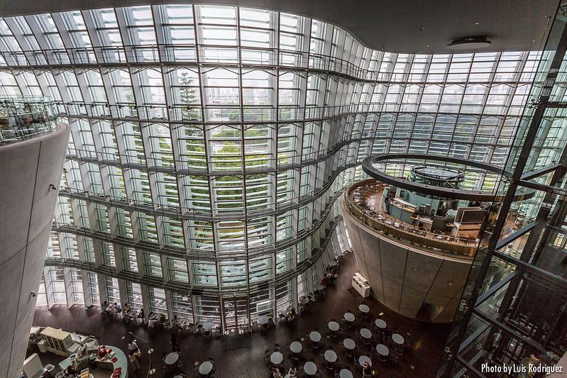 El interior real del Centro Nacional de Arte de Tokio