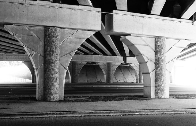 Faux Bois Overpass, I-69 over FM 1485, New Caney, Texas 1306281051BW