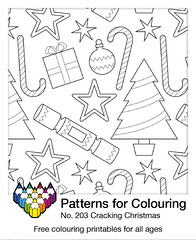 Christmas Colouring pattern