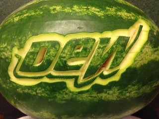 2014 Mountain Dew watermelon carving