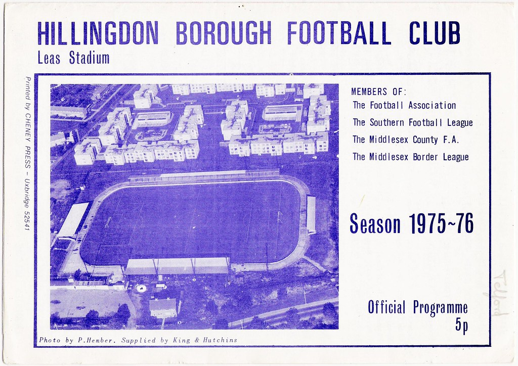 HILLINGDON BOROUGH v TELFORD UNITED 1975-76 (Southern League)