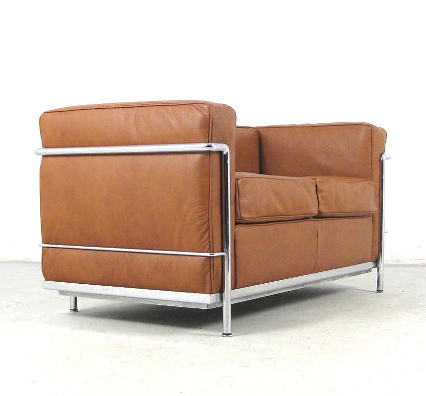 Le Corbusier Cassina Lc 2 Sofa Settee Cognac Leather Sesse Flickr