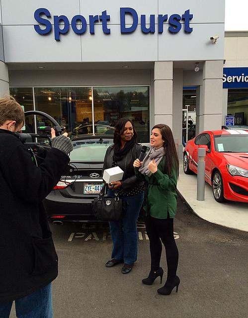 Sport Durst Hyundai >> Morgan Interviewing A Customer At Sport Durst Hyundai Flickr