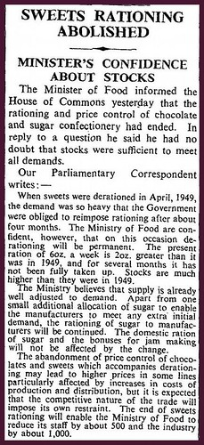 5th February 1953 - End of Sweet Rationing | by Bradford Timeline