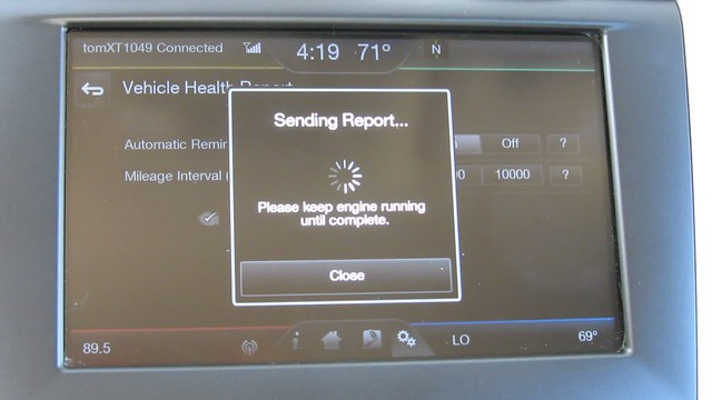 MVI_8926 2014 vehicle health report ford fusion se hybrid center console