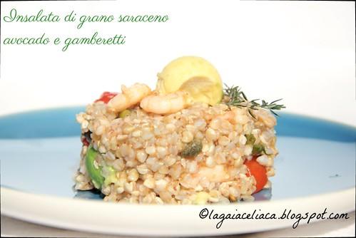 insalata di grano saraceno, avocado e gamberetti   by mammadaia