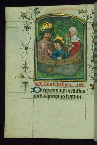Prayer Book, including Office of the Dead, St. Julian the Hospitaller and wife, Walters Manuscript W.164, fol. 183v | by Walters Art Museum Illuminated Manuscripts