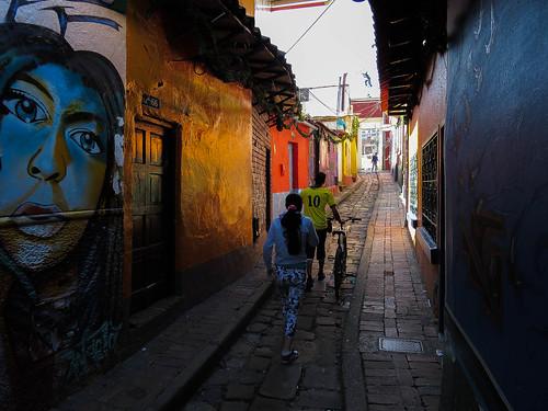 colombia bogota streetview lacandelaria