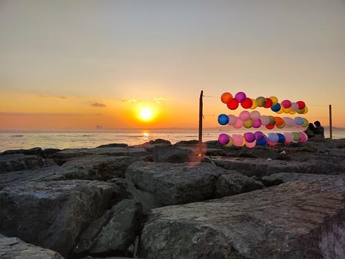 sunset red sea sun color turkey turkiye moda istanbul deniz tbt balon sahil kadıköy kırmızı renk