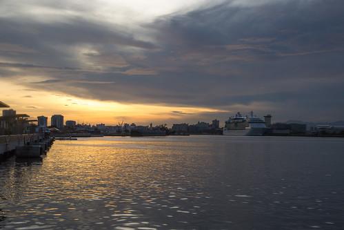 cruise sea sky nature water sunrise unitedstates puertorico objects sanjuan transportation geography