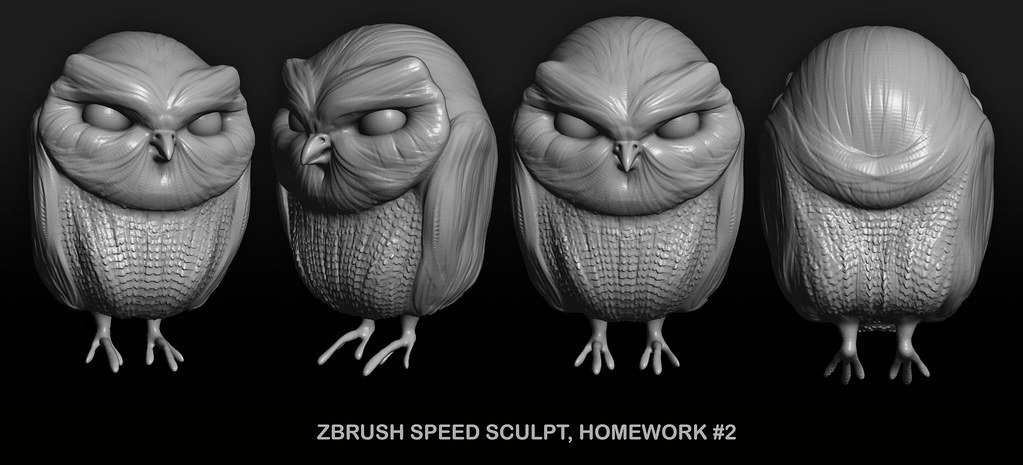 Gnomon Zbrush Class - Homework Speed Sculpt 2 | More of my h… | Flickr
