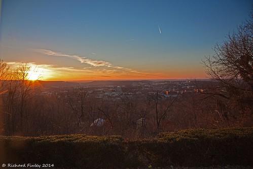 winter sunsets arkansas