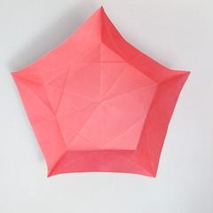 สอนวิธีการพับกระดาษเป็นดอกมะเฟือง (Origami Carambola) 017