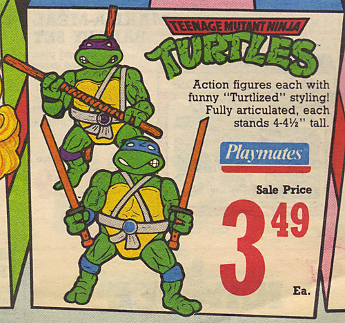 KAY•BEE TOY STORES :: Christmas in October pg.1 // ..TMNT toys isolated  (( OCTOBER,8 1989 )) by tOkKa