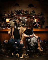 The Elephant Man meets the Buffalo Gal at the Happy Fish Bicycle Club