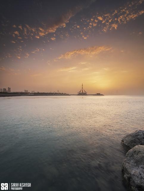 Kuwait - Marina Crescent Panoramic Hazy Sunset