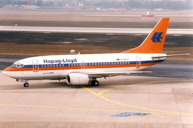 Hapag Lloyd | Boeing 737-500 | D-AHLF | Dusseldorf International