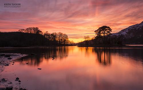 pink sunset sky orange colour reflection water yellow clouds scotland argyll loch pinksky pinkclouds lochawe keithtucker ©keithtucker