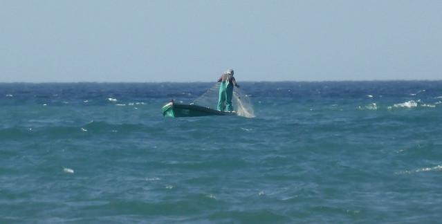 Fisherman working, Alhoceima Bay - Rif - Morocco.