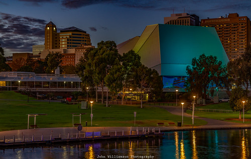 adelaide cityscape cityofadelaide clouds outdoor southaustralia sunrise topaz torrensriver water reflections australia