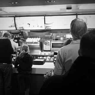 Standing in Line for Breakfast (Salisbury 2013)