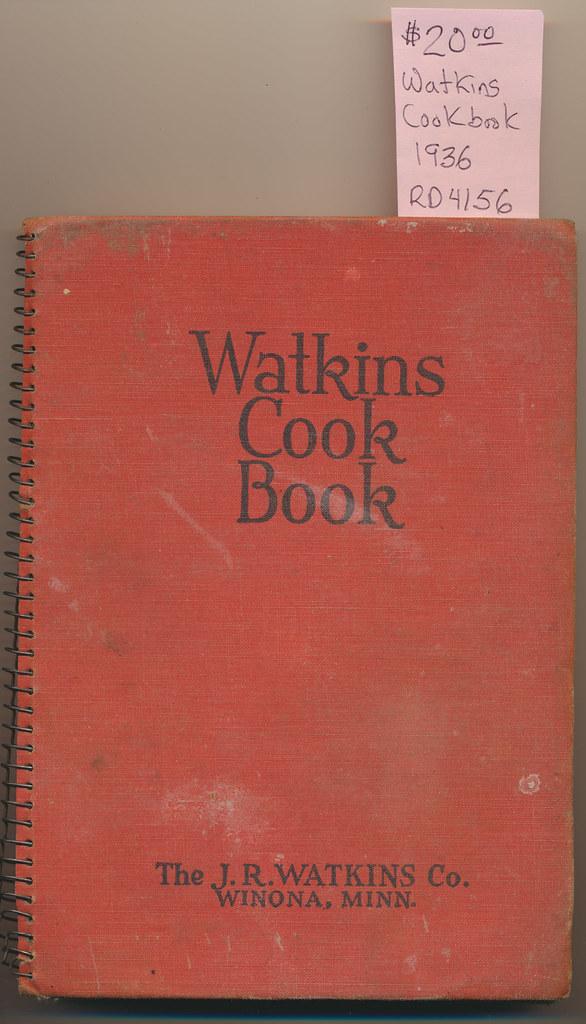 RD4156 Watkins Cook Book The J.R. WATKINS Co. © 1936