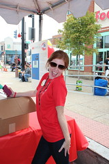 Awesome staff member showing tons of DC Streetcar spirit.