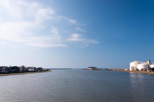2010 新潟県 旅行 直江津市 関川 上越市 日本 japan travel river niigata 空 sky pwpartlycloudy day nikond90