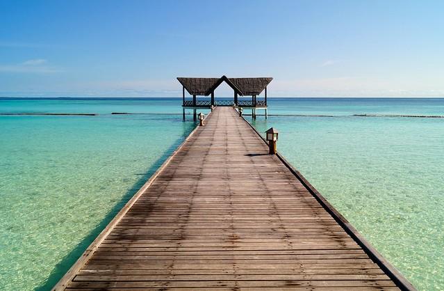Mandatory jetty shot, Madhiriguraidhoo, Lhaviyani Atoll, Maldives