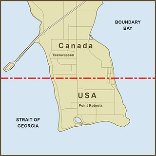 Map Of Georgia And Surrounding States.A Map Of The Border Between Canada And The United States A Flickr