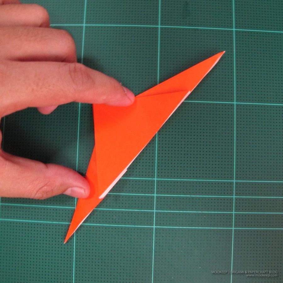 วิธีการพับกระดาษเป็นรูปไดโนเสาร์ (Origami Dinosaur) 003