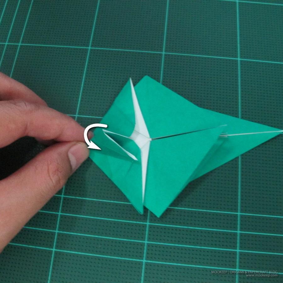 วิธีพับกระดาษเป็นรูปหมู (Origami Pig) 010