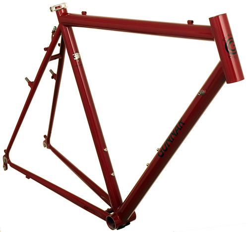 "<p>Front view of Gunnar CrossHairs in Garnet Metallic / Black Buillseye Decals.  This bike is ideal for cyclocross, gravel grinding, off-season training, commuting, distance riding and light touring.  What more could you ask from one design? <a href=""http://gunnarbikes.com/site/bikes/cross-hairs/"" rel=""nofollow"">Learn more . . </a></p>"