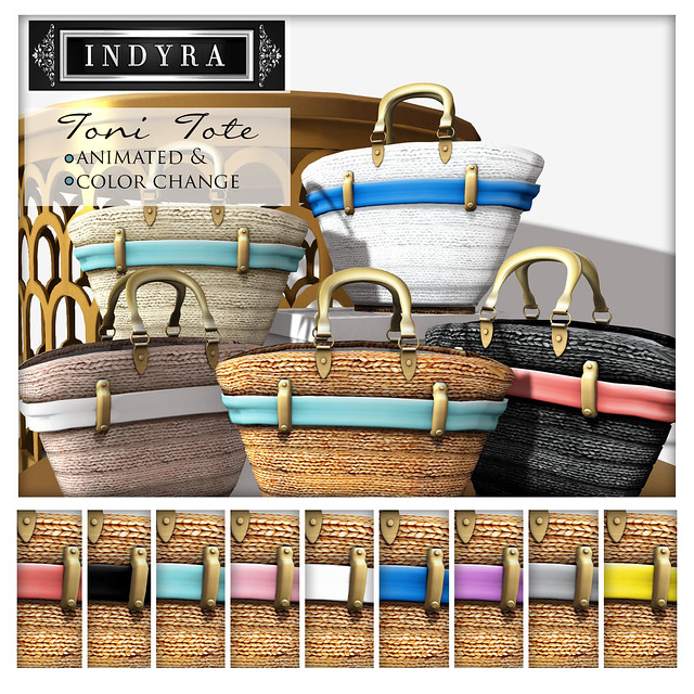 {Indyra} Toni Straw Totebag Set