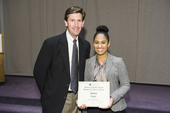 Public Health Management Student Excellence Award presented to Jasmin Scott by John McAlearney
