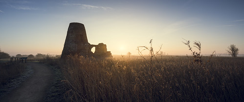 morning light cold abbey sunrise dawn warm frost glow path norfolk line derelict leading goldenhour broads