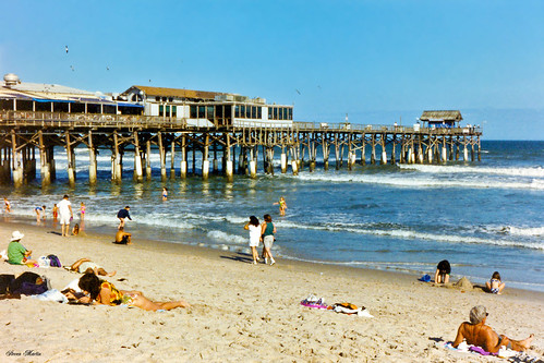 ocean beach restaurant pier florida 1996 seashore cocoabeach