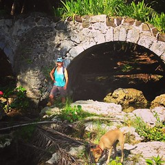 Exploring hard-to-reach places on Guam! This bridge was built sometime in the 1700's by the Spanish on the southwest coast of the island. #theguamguide #whereamericasdaybegins #explore #goguam #instaguam #booniestomping by Amy Forsythe