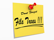 Dont Forget File Taxes | by One Way Stock
