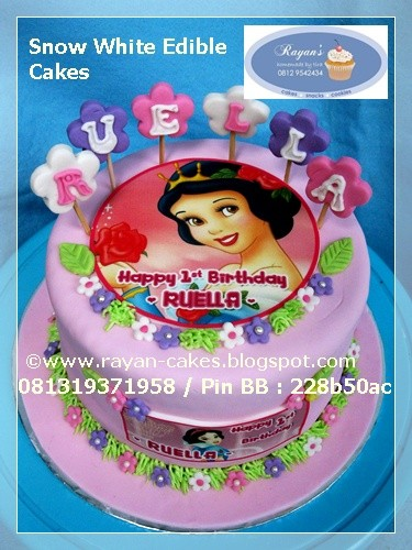 Swell Snow White Edible Birthday Cakes Fondant For Ruella Raya Flickr Funny Birthday Cards Online Alyptdamsfinfo