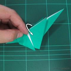 วิธีพับกระดาษเป็นรูปหมู (Origami Pig) 018
