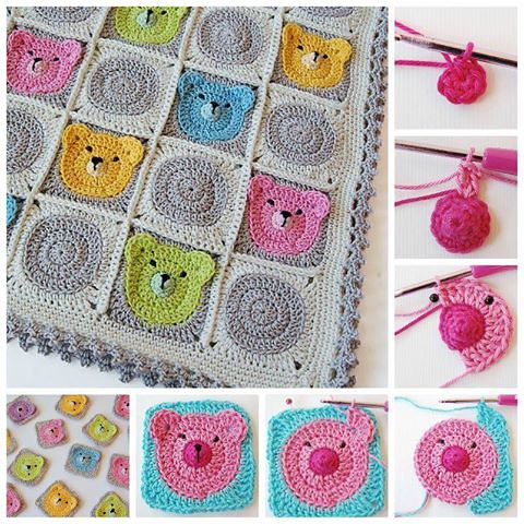 Teddy Bear Blanket Pattern - Evelyn And Peter Crochet | 480x480