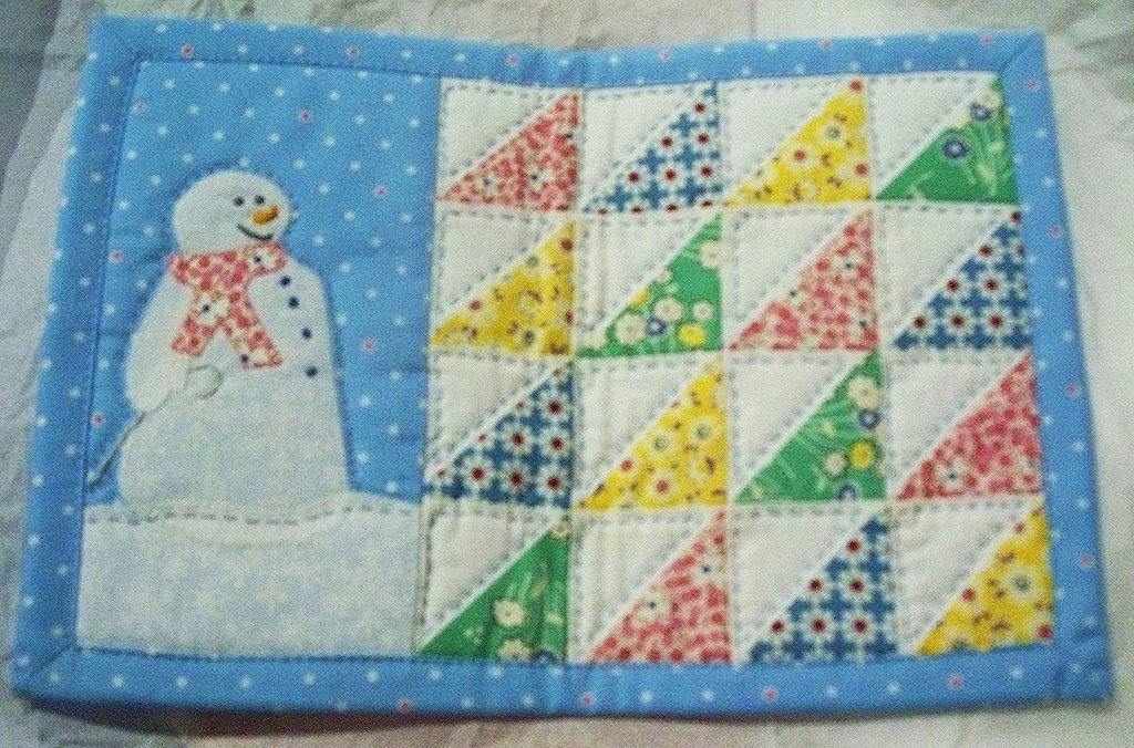 Snowman Mug Rug Sorry About The Blurry Pic Lindaruthie Flickr