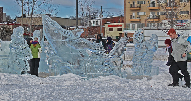 Exploring the ice sculptures